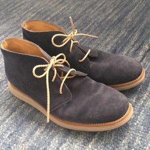 Cole Haan chukka boots blue suede sz 9 M excellent